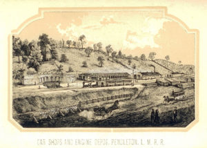 Little Miami Railroad, Pendleton, Ohio, 1854