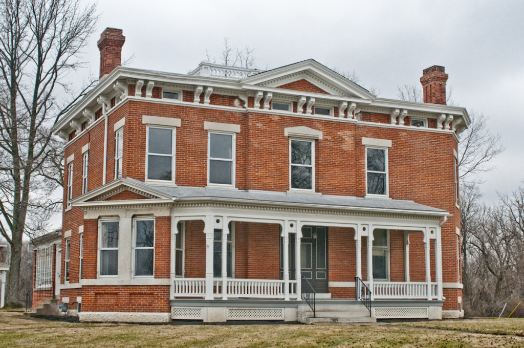 A prime example of Italianate Architecture, here is the front facade of the King Mansion.
