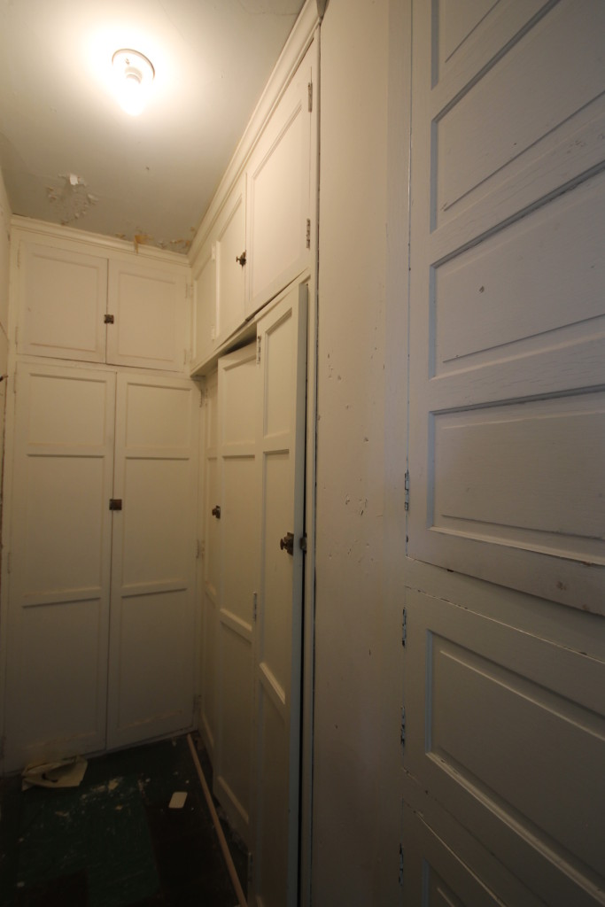 Built in closet for bedroom three
