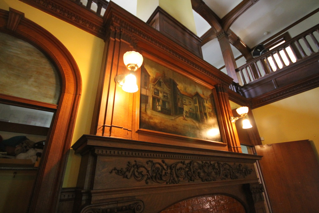 Close up of the Great Room mantle