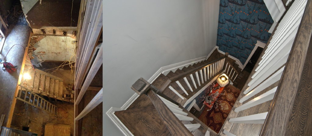 Before and After: The Stair