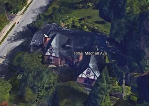 700 E. Mitchell roof line, complements of Google Earth.
