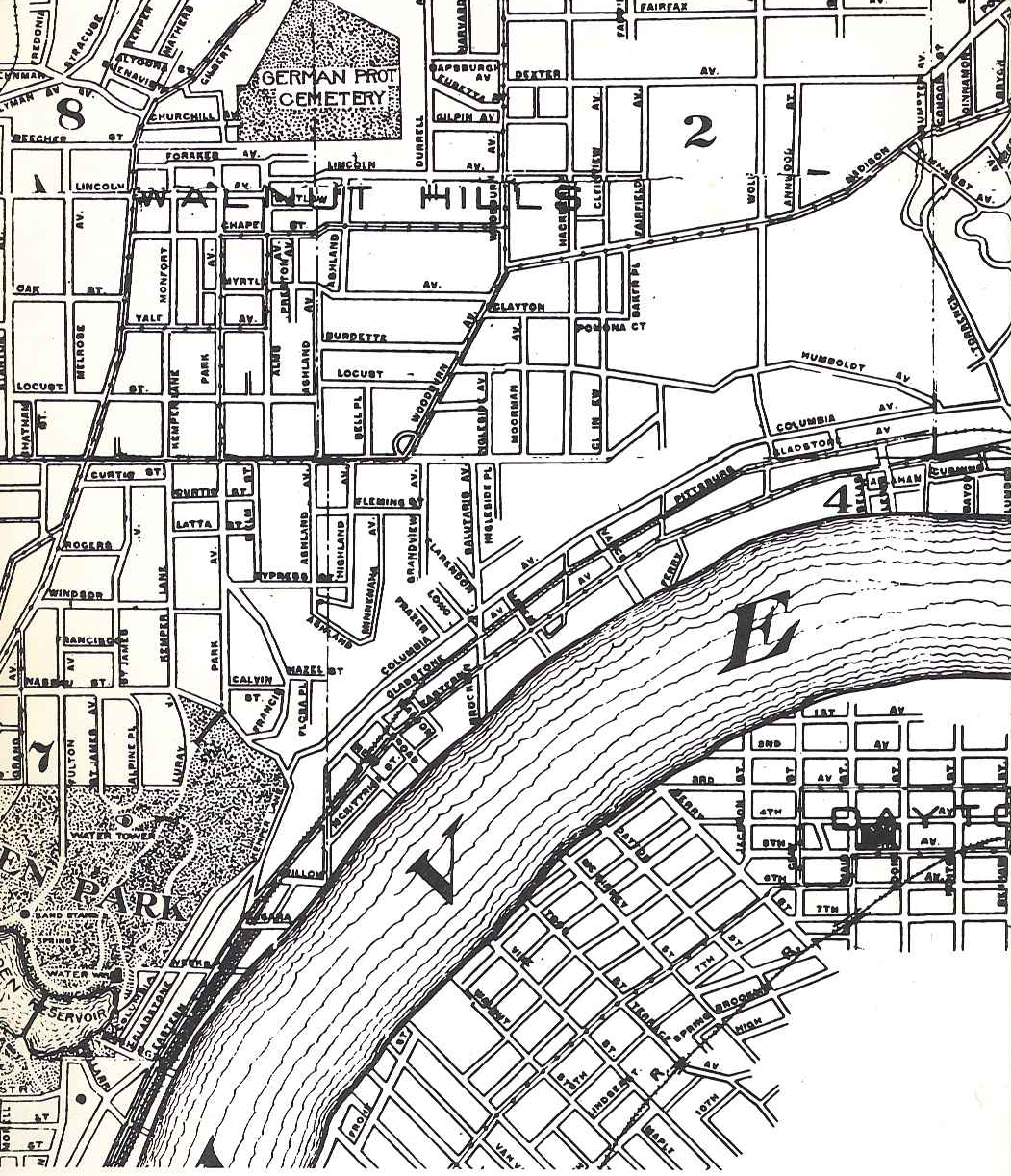 Walnut Hills from the Rand McNally & Co.'s 1910 Cincinnati map.