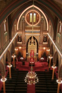 Interior of the Plum Street Temple