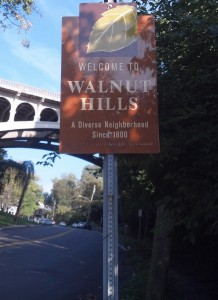 Walnut Hills welcome sign