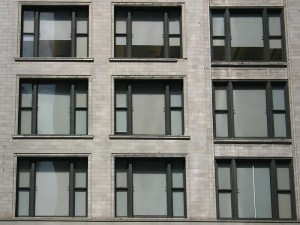 Chicago Style tripartite windows.