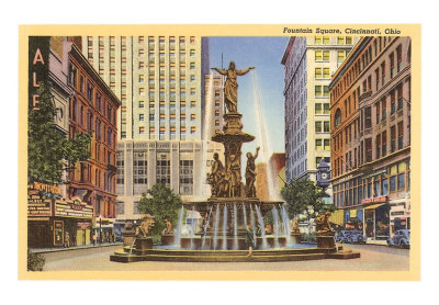 Original Fountain Square with Mabey & Carew department store shown on the right.