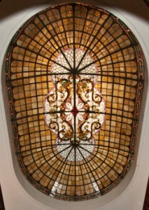 Stained glass dome.