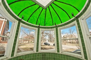 The Charles E. Roth House features a circular conservatory with a green glass dome.