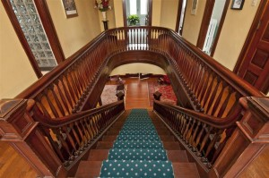 Grand staircase at the Roth House.