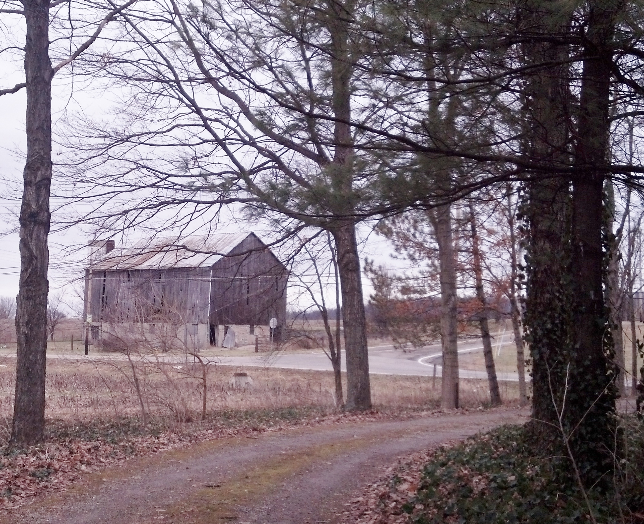 The original barn (no longer part of the same property).