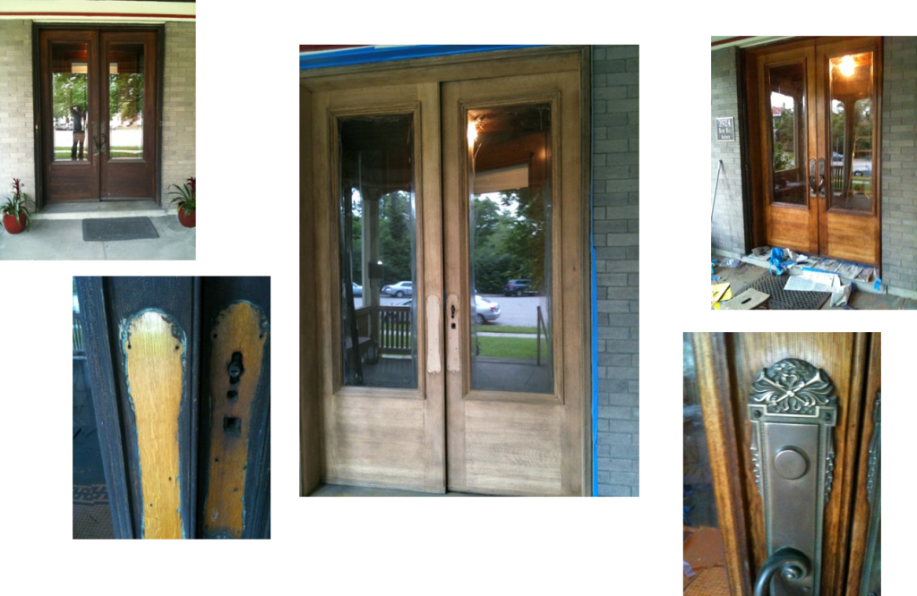A very successful front door refinishing project.