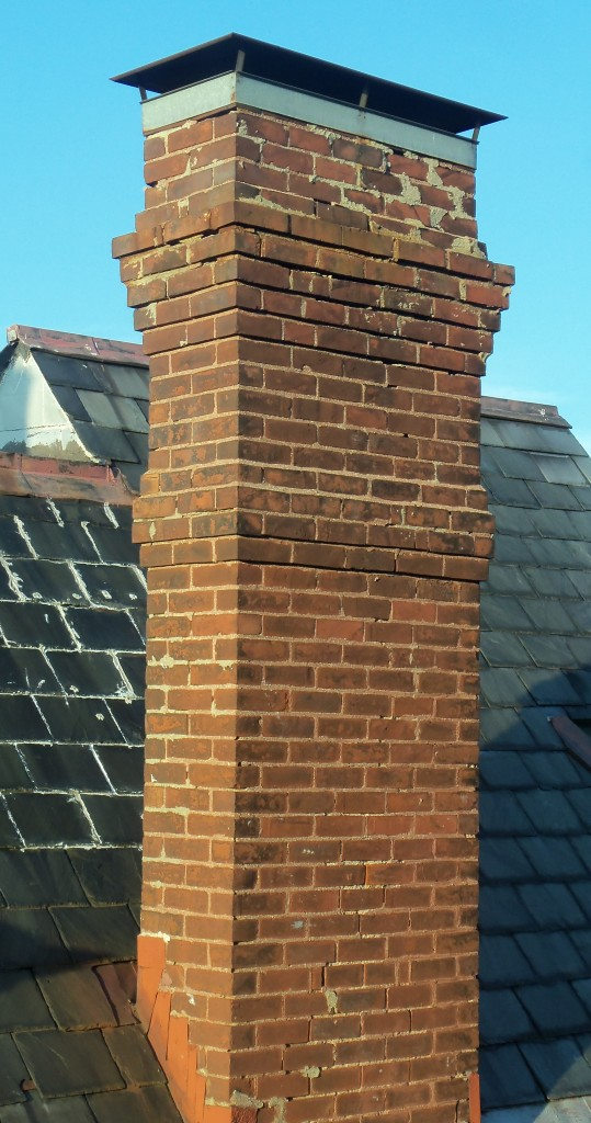 Upon close inspection, this 1890s chimney is missing a lot of mortar in the joints!