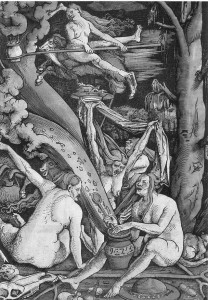 Witches by Hans Baldung (woodcut, 1508)