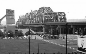 C & O Railroad Bridge (1929) and adjacent Clay Wade Bridge over the Ohio River