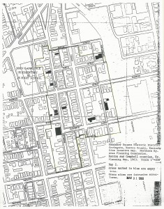 Seminary Square Historic District boundaries (as marked on the NRHP Inventory-Nomination Form, May 1980)