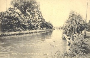 Miami and Erie Canal, Middletown, Ohio circa 1910
