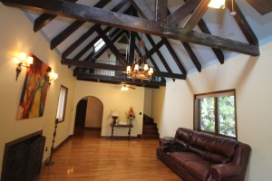 The magnificent living room at 700 E. Mitchell Avenue