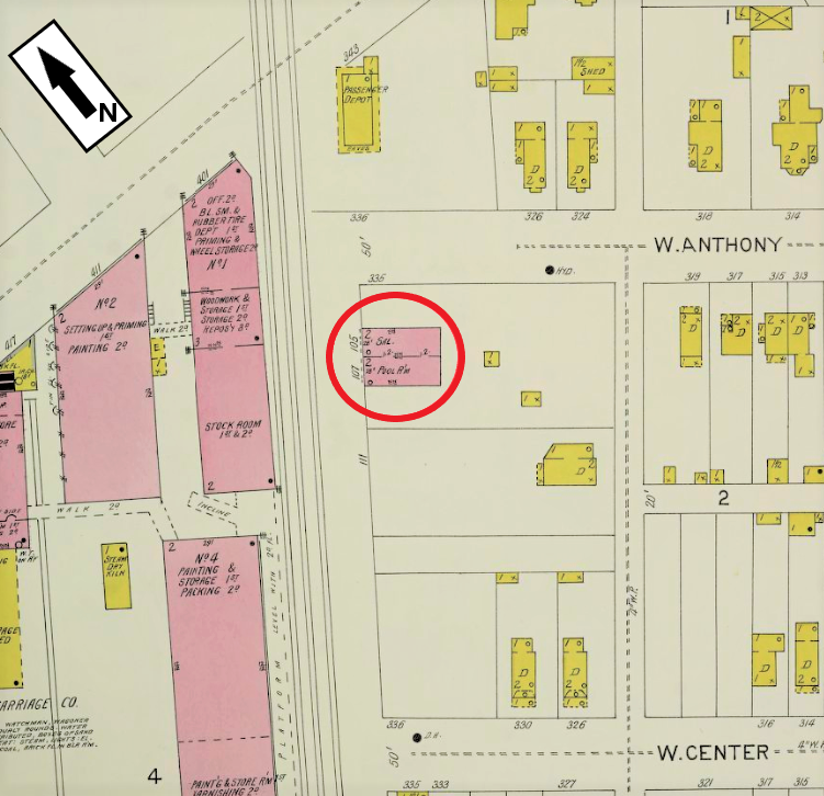235 W. 70th Street on the 1904 Sanborn Fire Insurance Map from Cincinnati, OH, Vol. 6