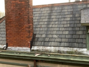 Slate roof in poor condition